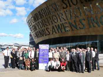 Conference delegates at the Wales Millennium Centre