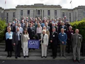 Conference delegates at the National Library of Wales