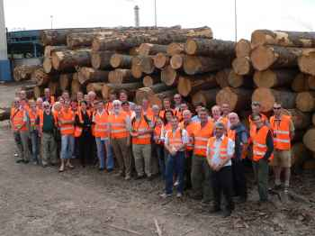 The group at Stora Enso Imavere Sawmill