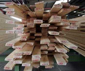 A stack of sawn timber