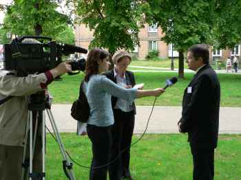 Media interest was much in evidence during the conference